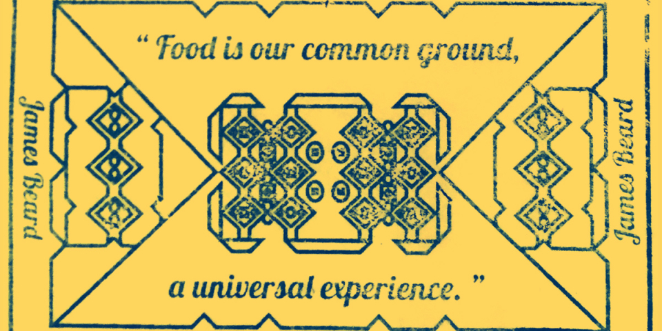 Food quote wooden hand stamp