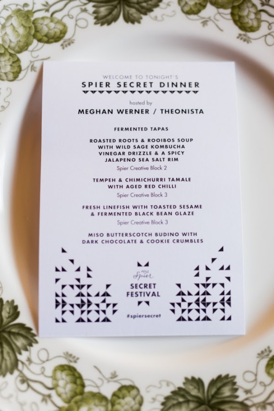 Spier Secret Dinners 2015