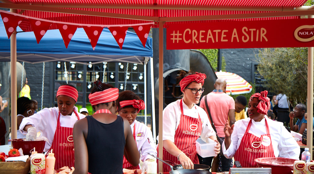 The Nola Activation at Street Food Festival ZA