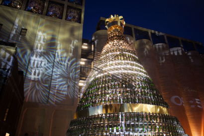 The Moët & Chandon Christmas Tree